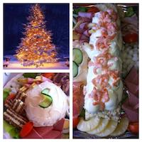 Salades voor de kerst