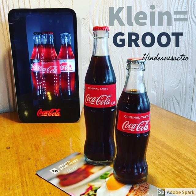 Coca-Cola actie klein=GROOT